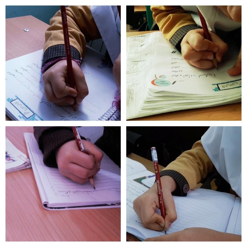درست گرفتن مداد