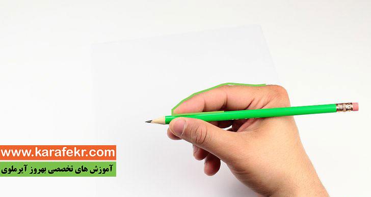 روش درست گرفتن مداد برای کودکان