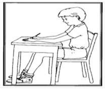 وضعیت مطلوب نشستن برای راست دست ها و چپ دست ها