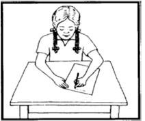وضعیت مطلوب برای شکسته نویسی چپ دست ها