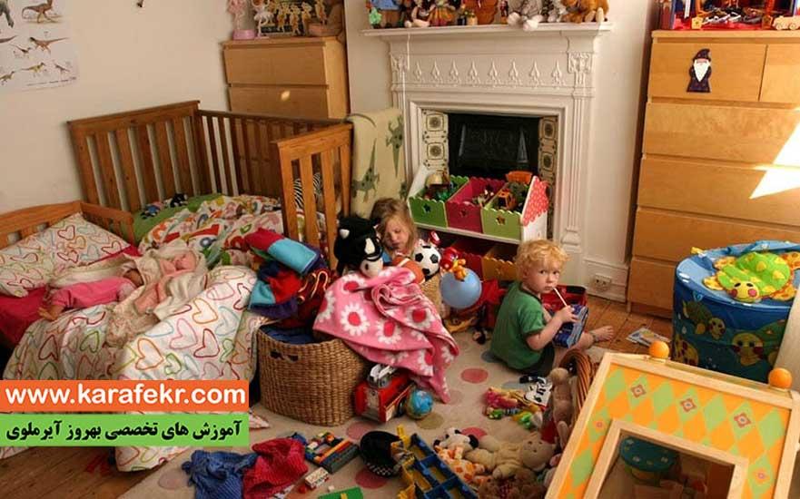 اموزش مرتب کردن اتاق به کودکان